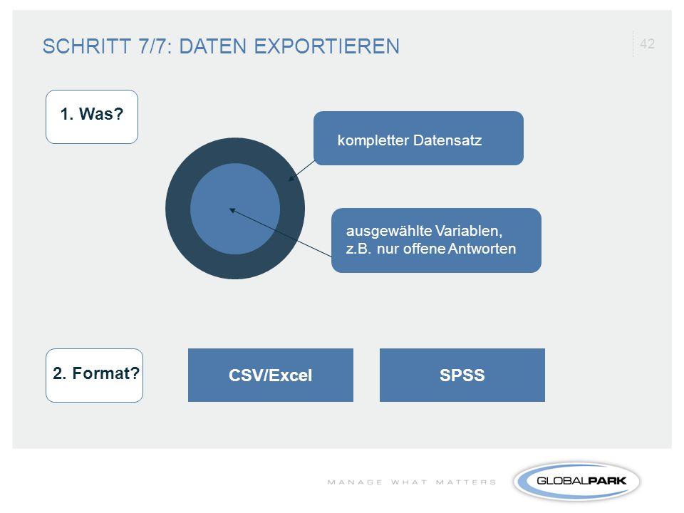 SCHRITT 7/7: DATEN EXPORTIEREN