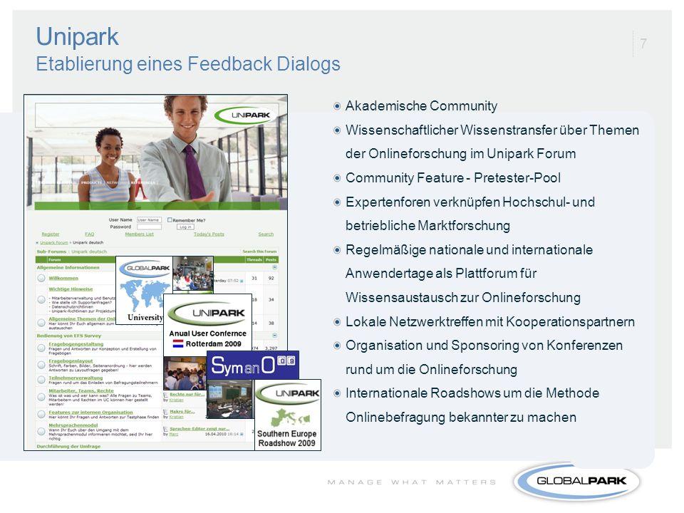 Unipark Etablierung eines Feedback Dialogs
