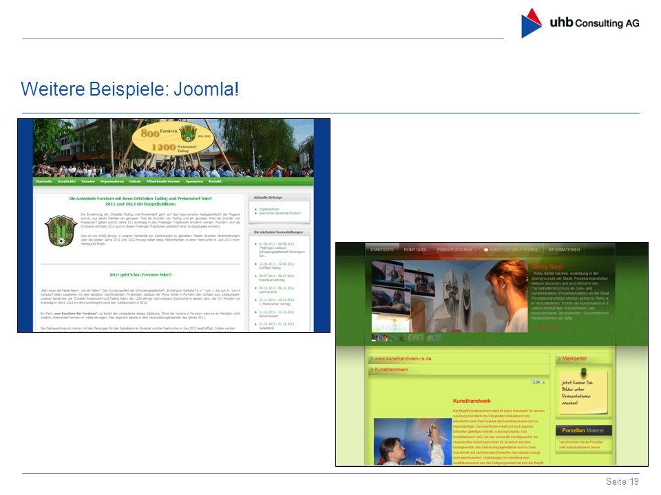 Weitere Beispiele: Joomla!