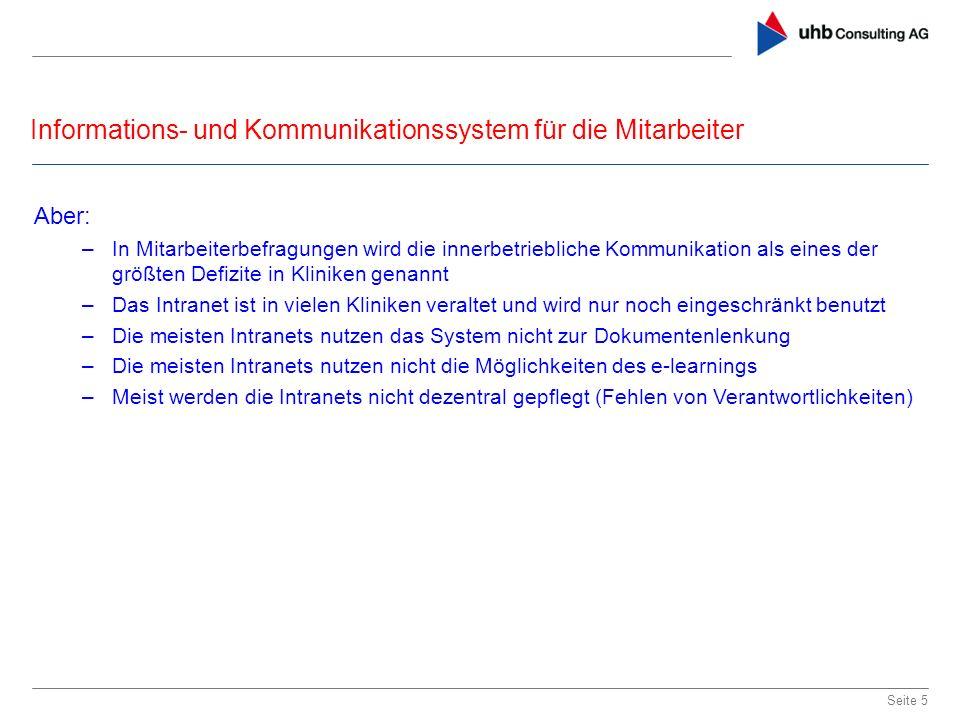 Informations- und Kommunikationssystem für die Mitarbeiter