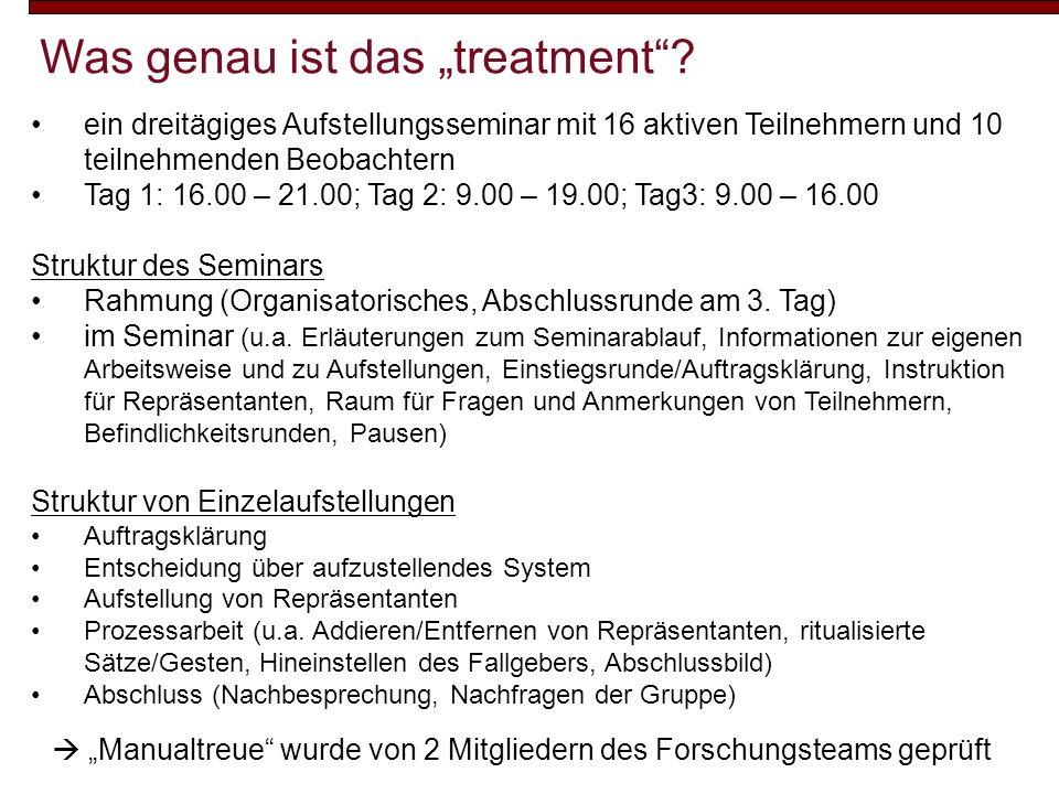 """Was genau ist das """"treatment"""
