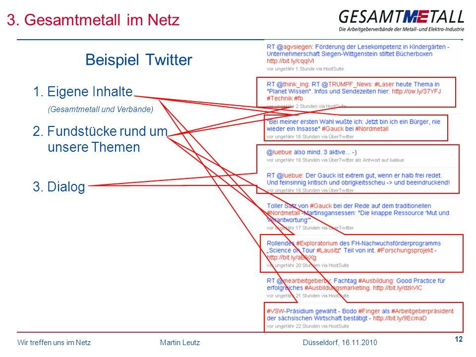 3. Gesamtmetall im Netz Beispiel Twitter
