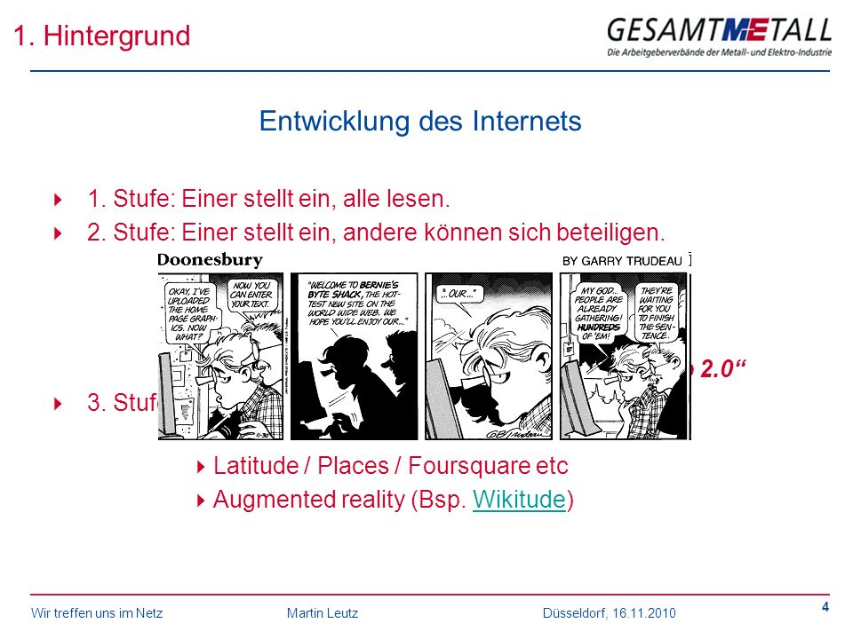 Entwicklung des Internets