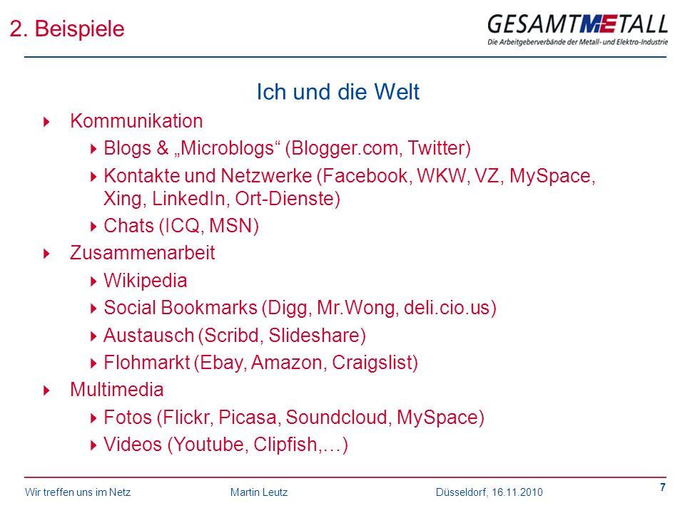 2. Beispiele Ich und die Welt Kommunikation