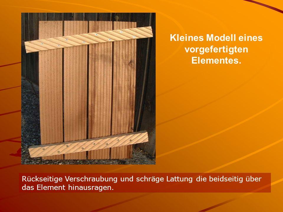 Kleines Modell eines vorgefertigten Elementes.