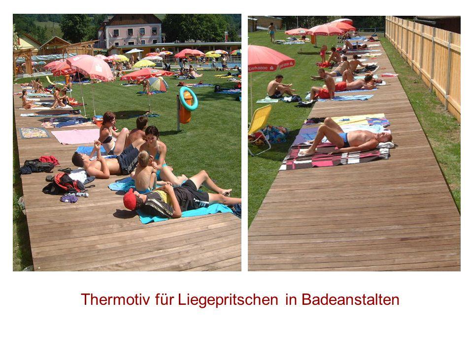 Thermotiv für Liegepritschen in Badeanstalten
