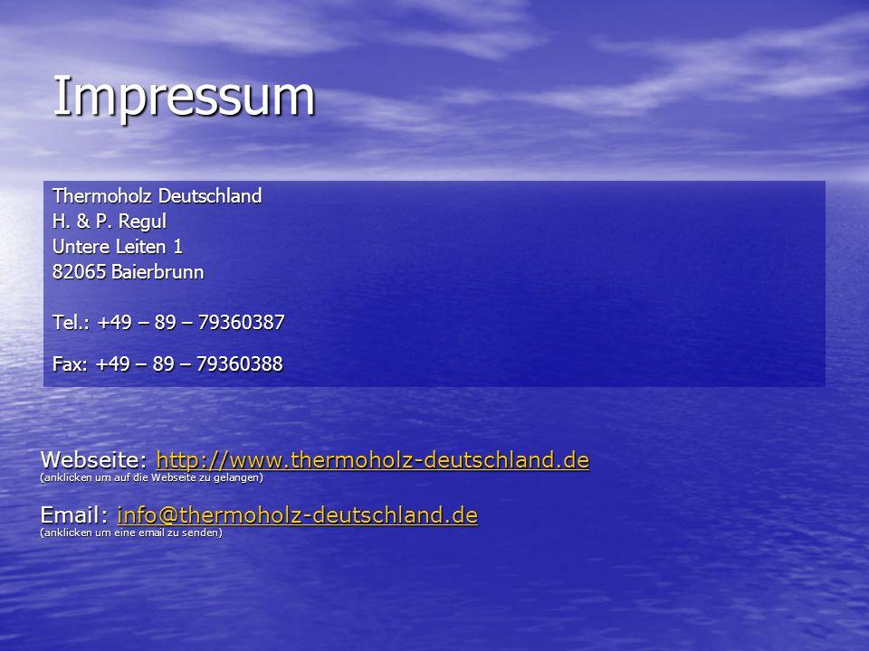 Impressum Webseite: http://www.thermoholz-deutschland.de