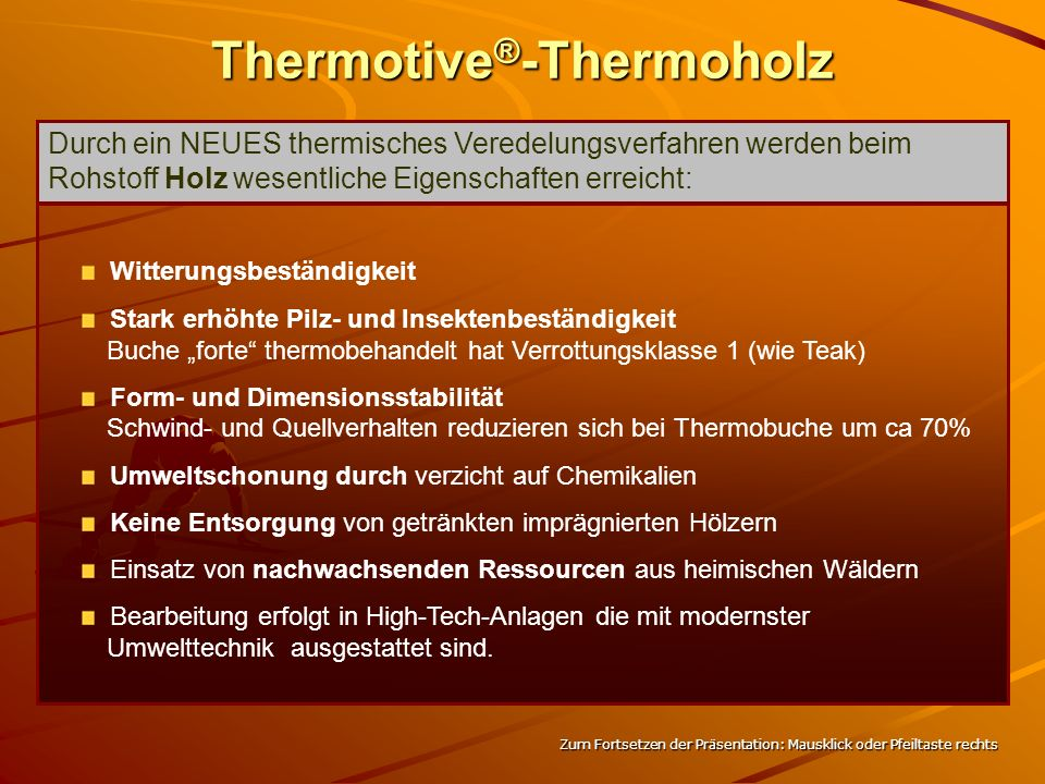 Thermotive®-Thermoholz