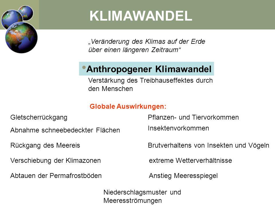 Anthropogener Klimawandel Globale Auswirkungen: