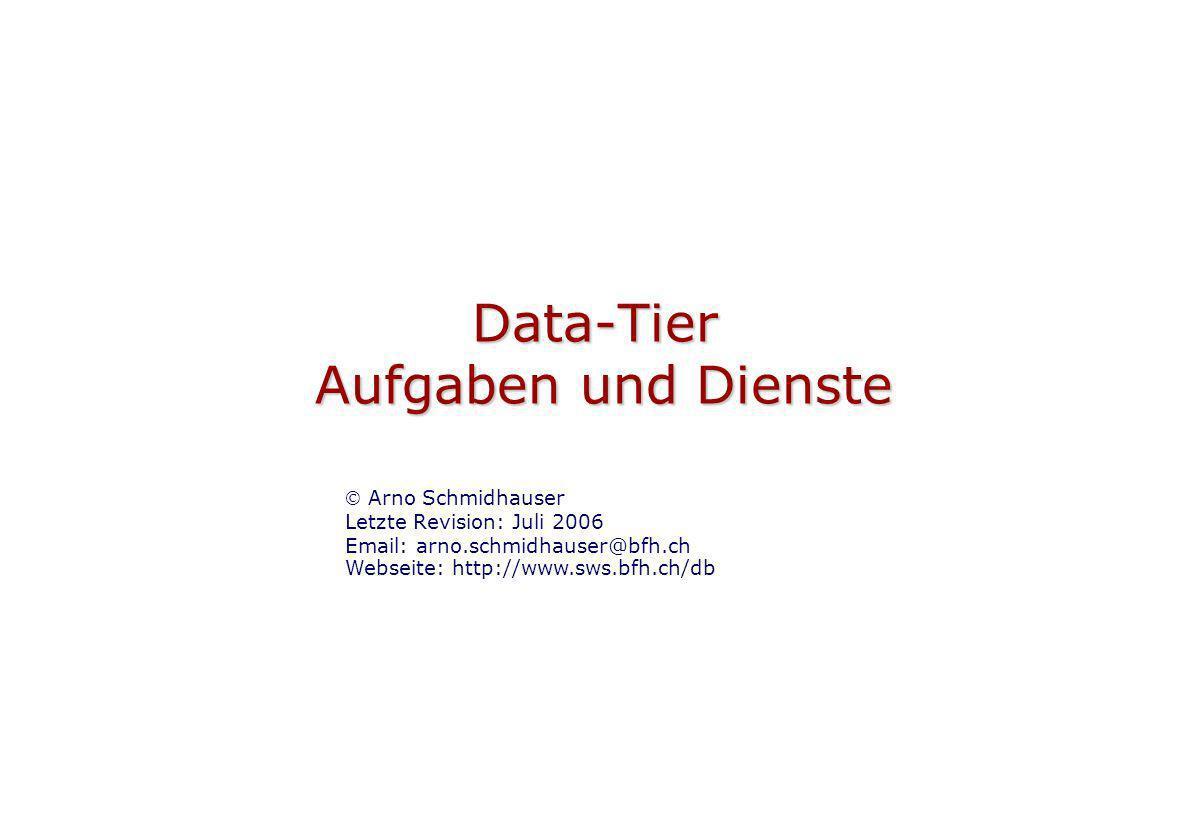 Data-Tier Aufgaben und Dienste