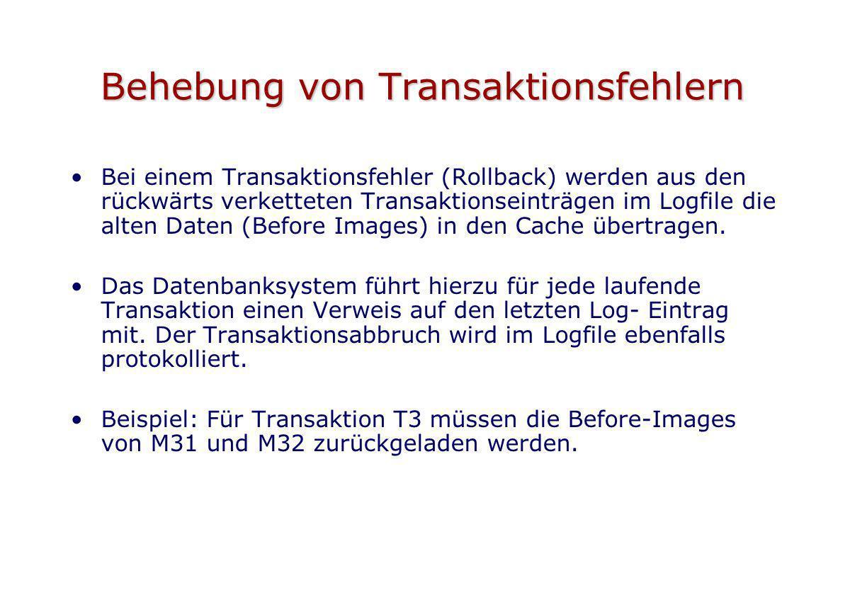 Behebung von Transaktionsfehlern