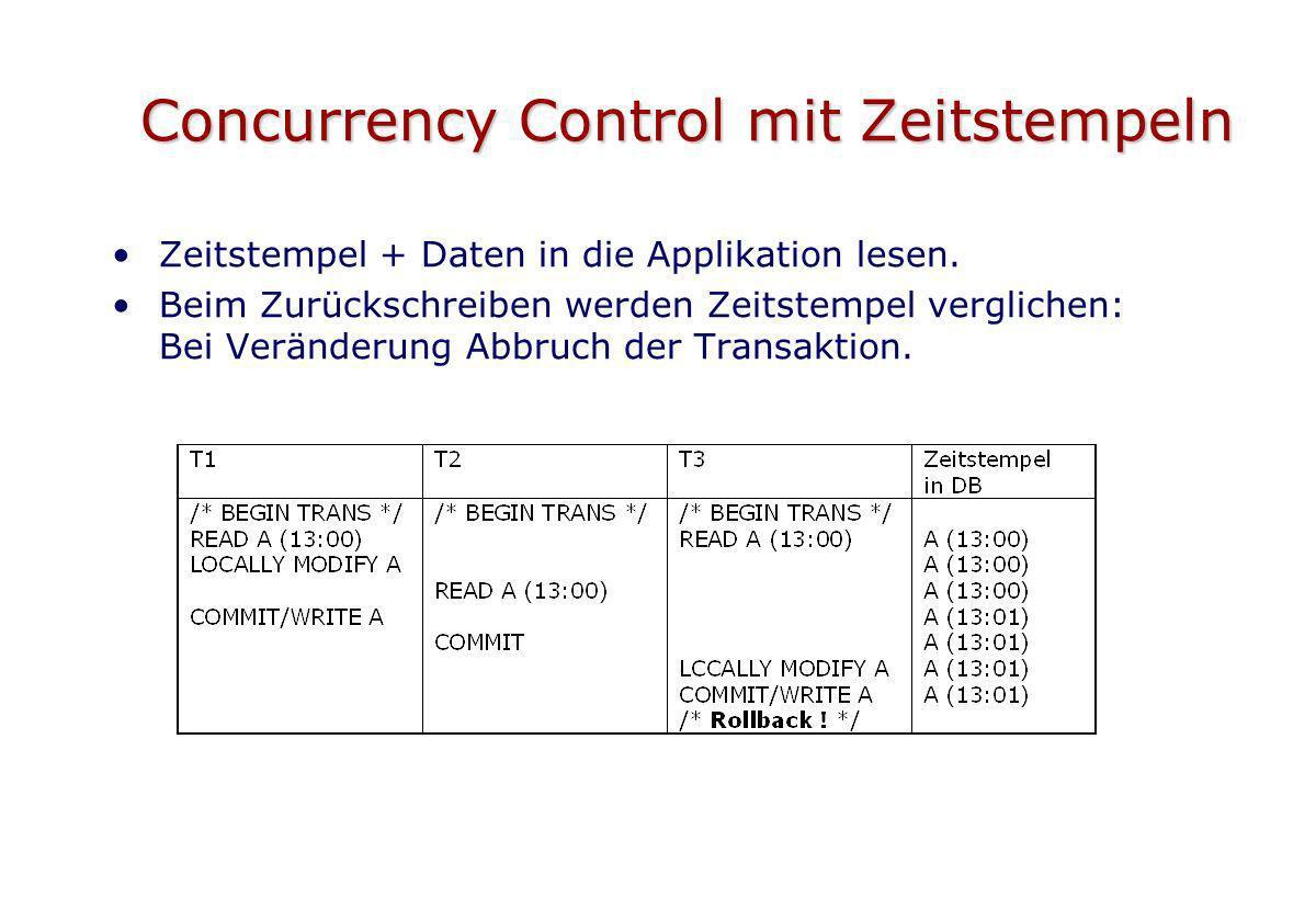 Concurrency Control mit Zeitstempeln