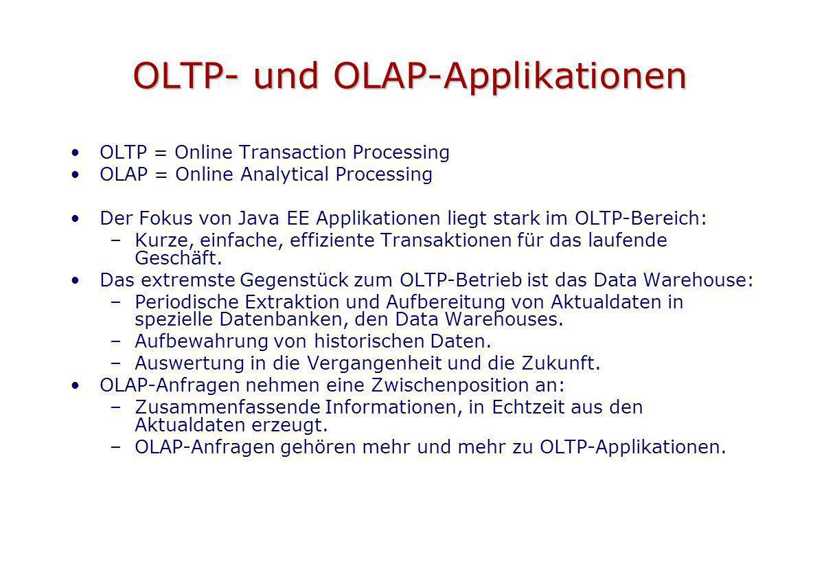 OLTP- und OLAP-Applikationen