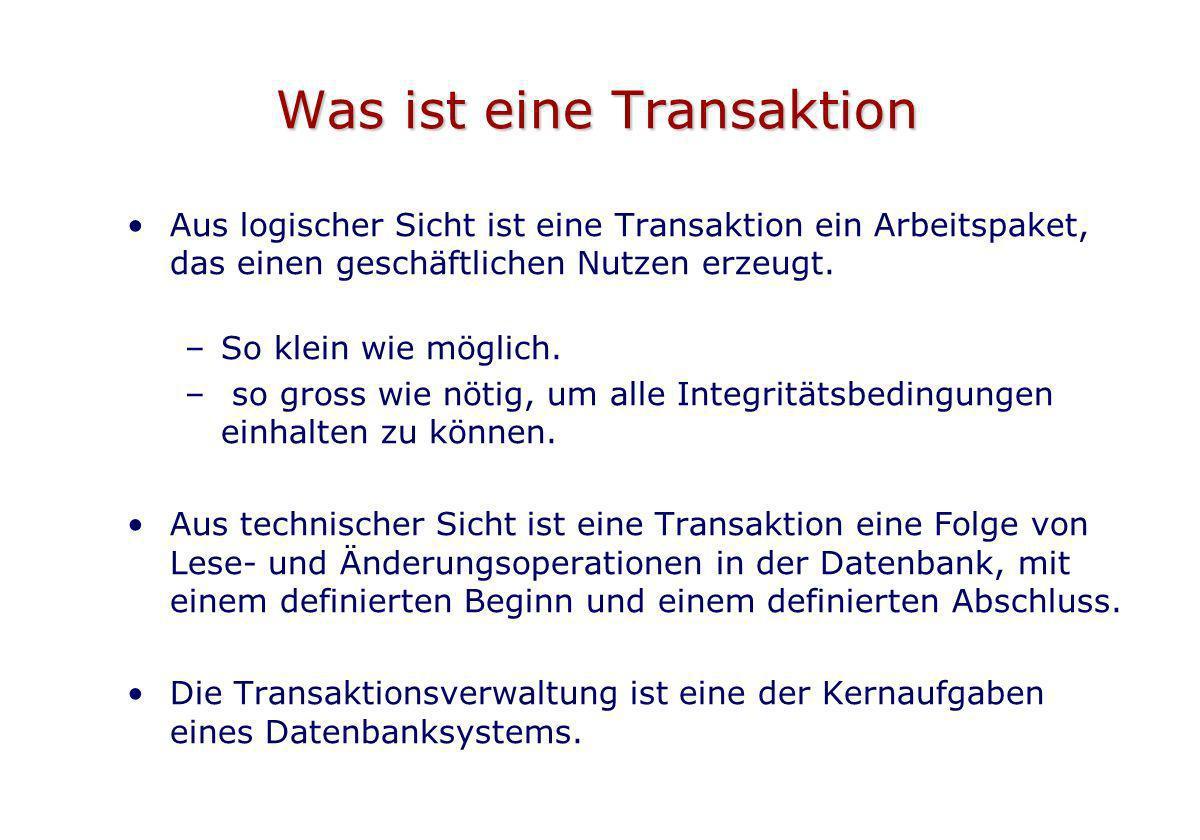 Was ist eine Transaktion