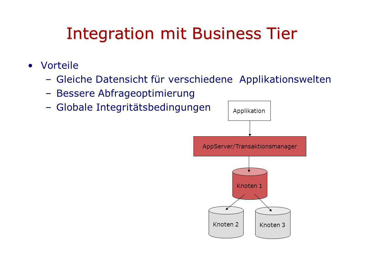 Integration mit Business Tier