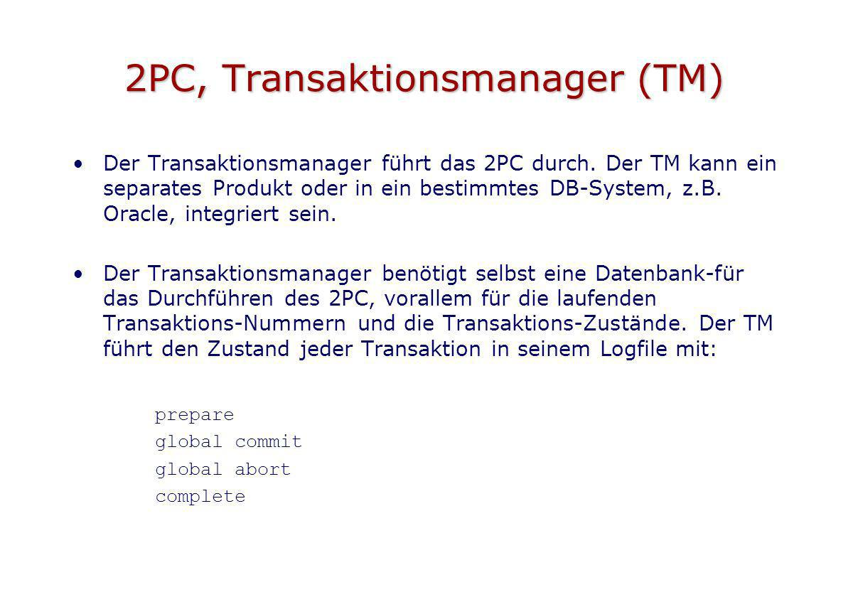 2PC, Transaktionsmanager (TM)