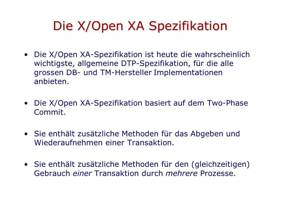 Die X/Open XA Spezifikation