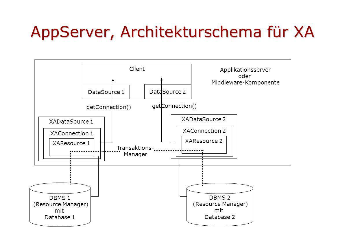 AppServer, Architekturschema für XA