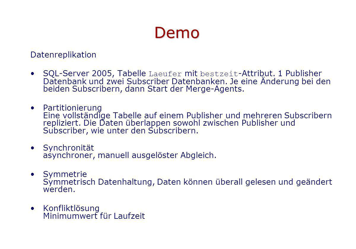 Demo Datenreplikation