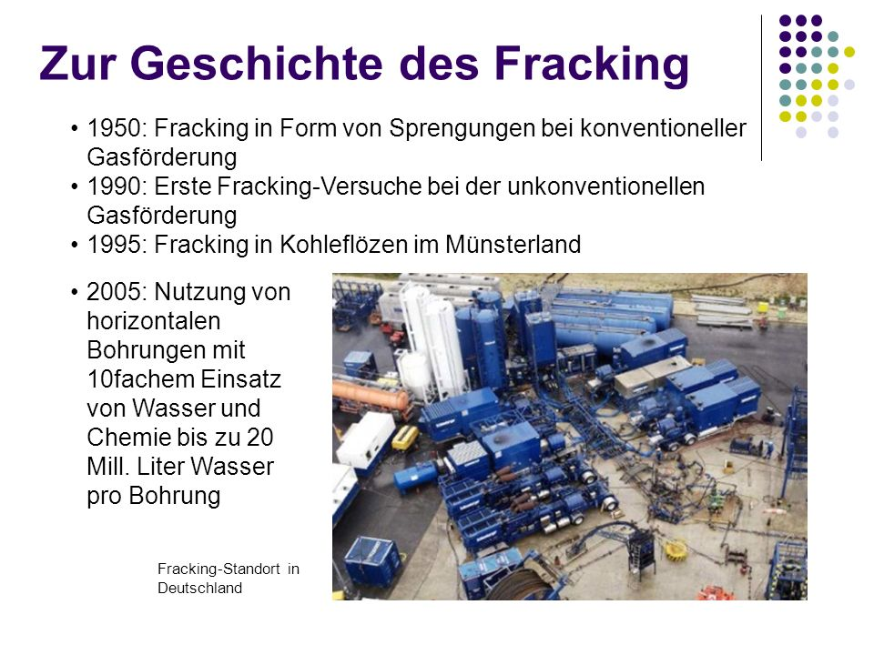 Zur Geschichte des Fracking