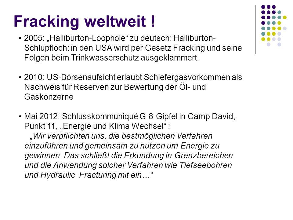 Fracking weltweit !