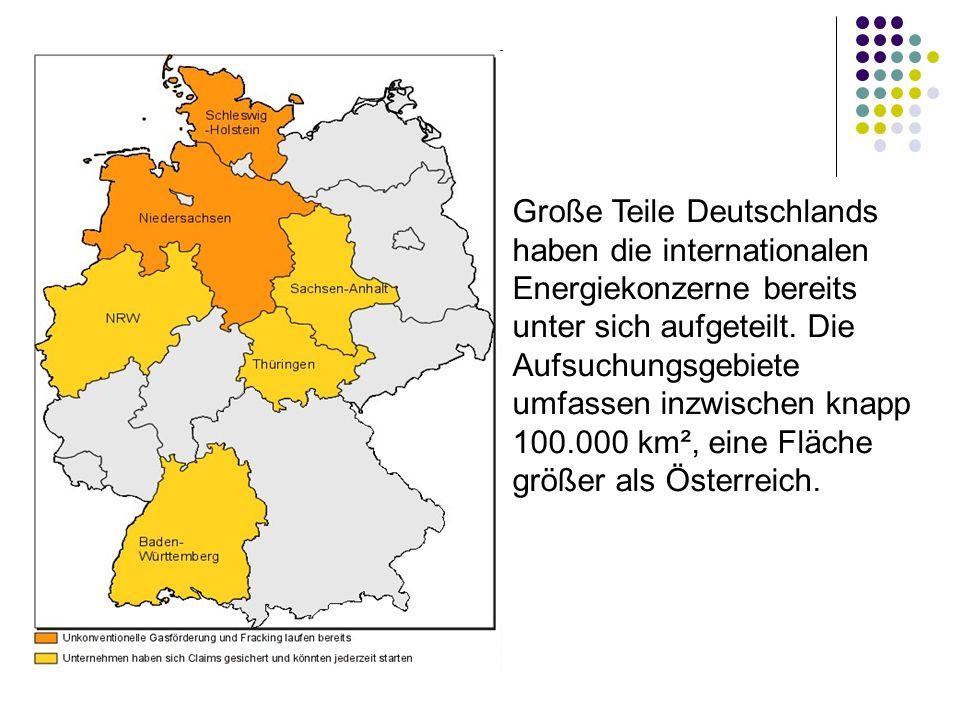 Große Teile Deutschlands haben die internationalen Energiekonzerne bereits unter sich aufgeteilt.