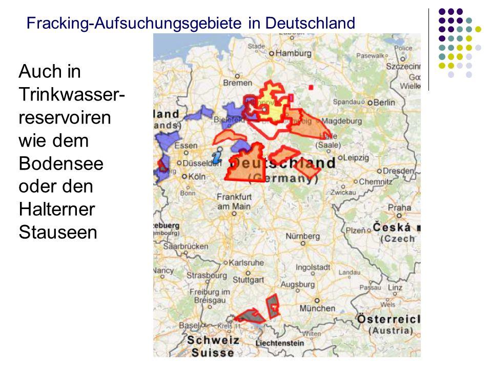 Fracking-Aufsuchungsgebiete in Deutschland