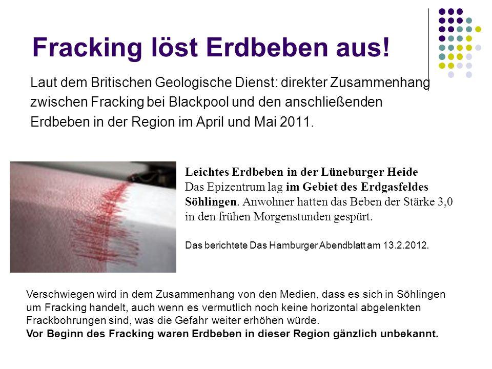 Fracking löst Erdbeben aus!