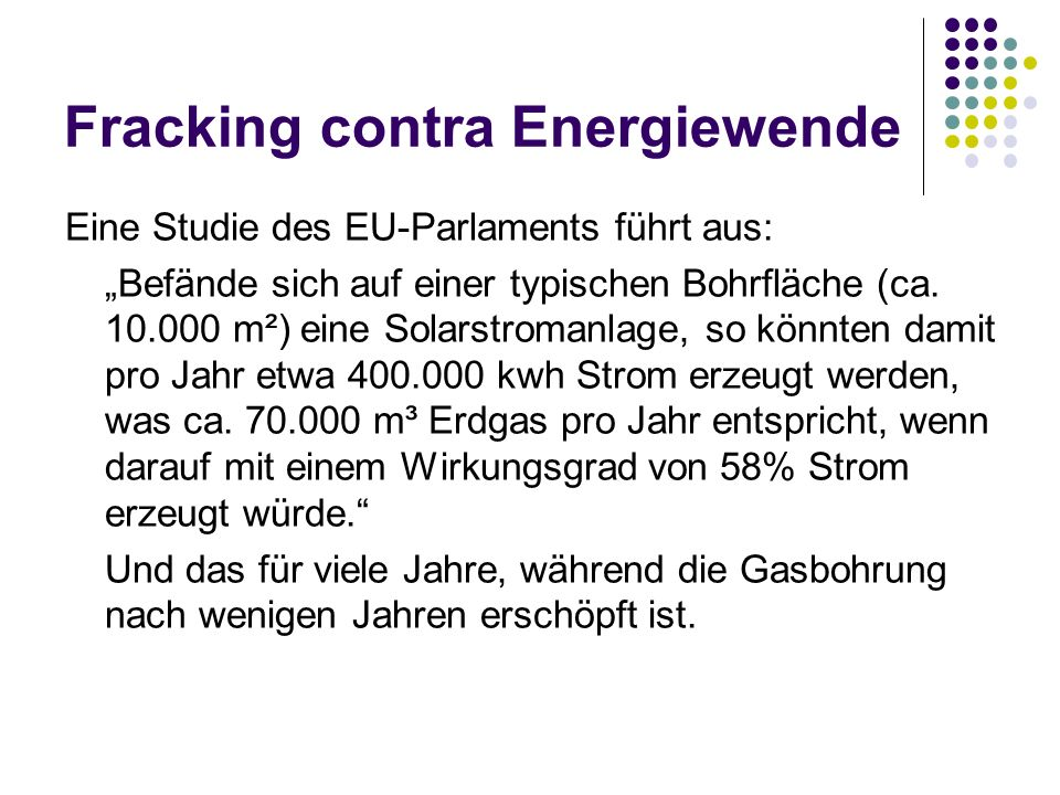 Fracking contra Energiewende
