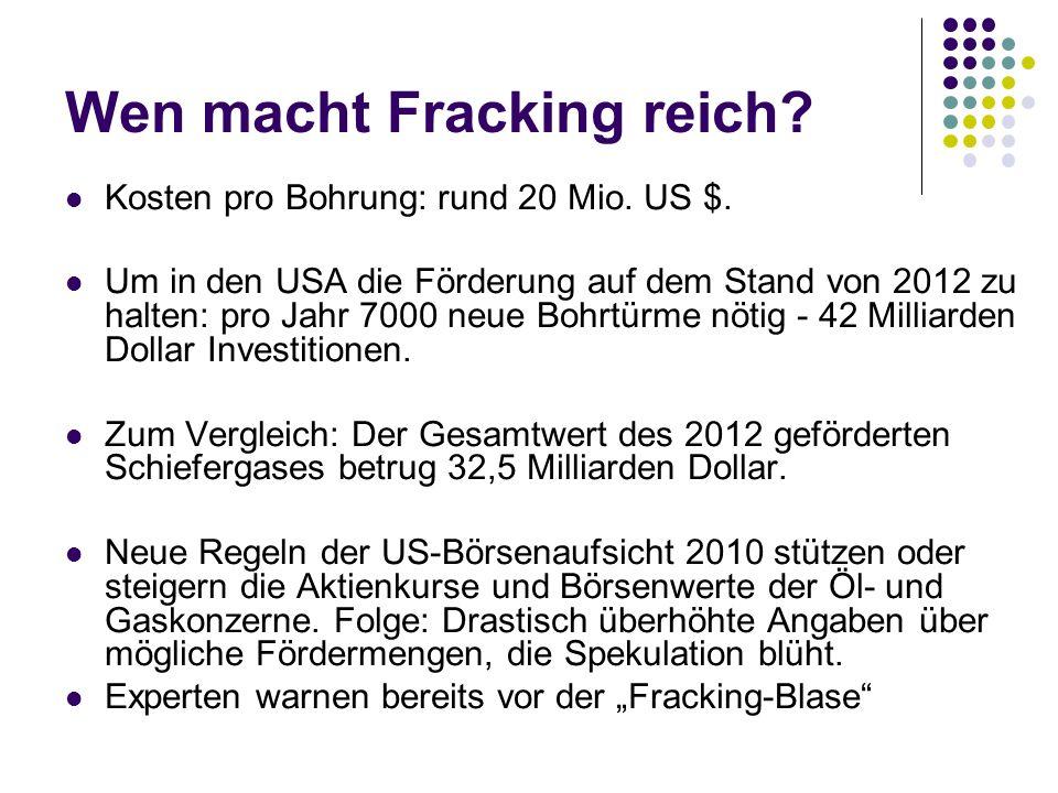 Wen macht Fracking reich