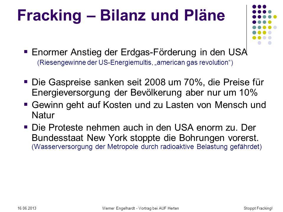 Fracking – Bilanz und Pläne
