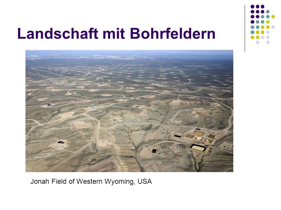 Landschaft mit Bohrfeldern