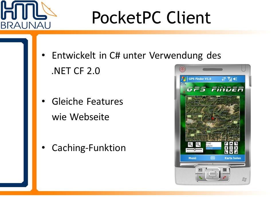 PocketPC Client Entwickelt in C# unter Verwendung des .NET CF 2.0