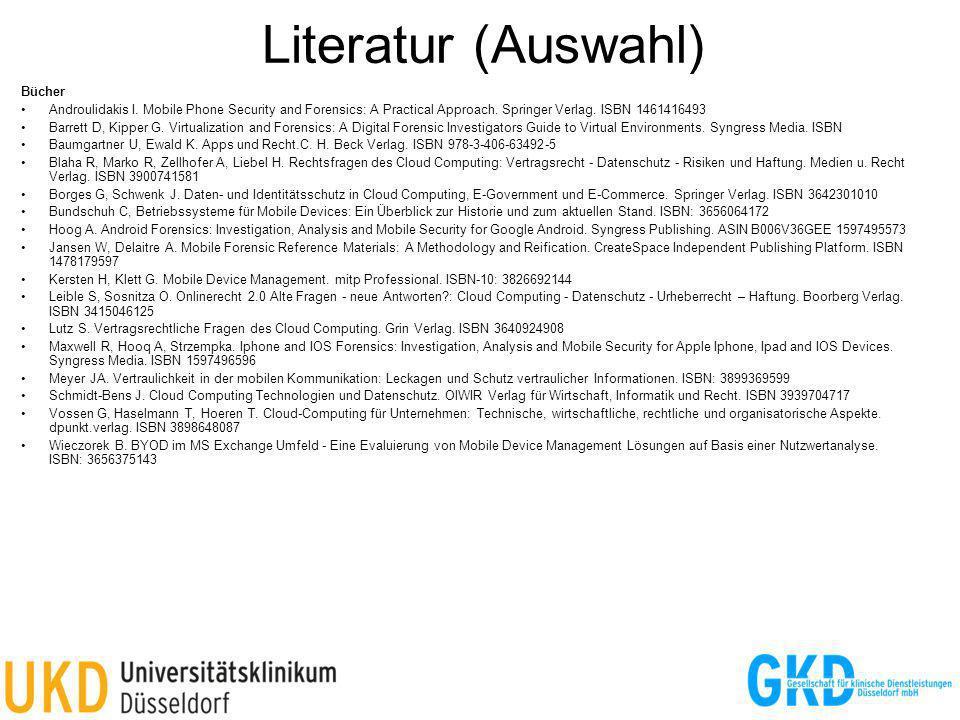 Literatur (Auswahl) 32 Bücher
