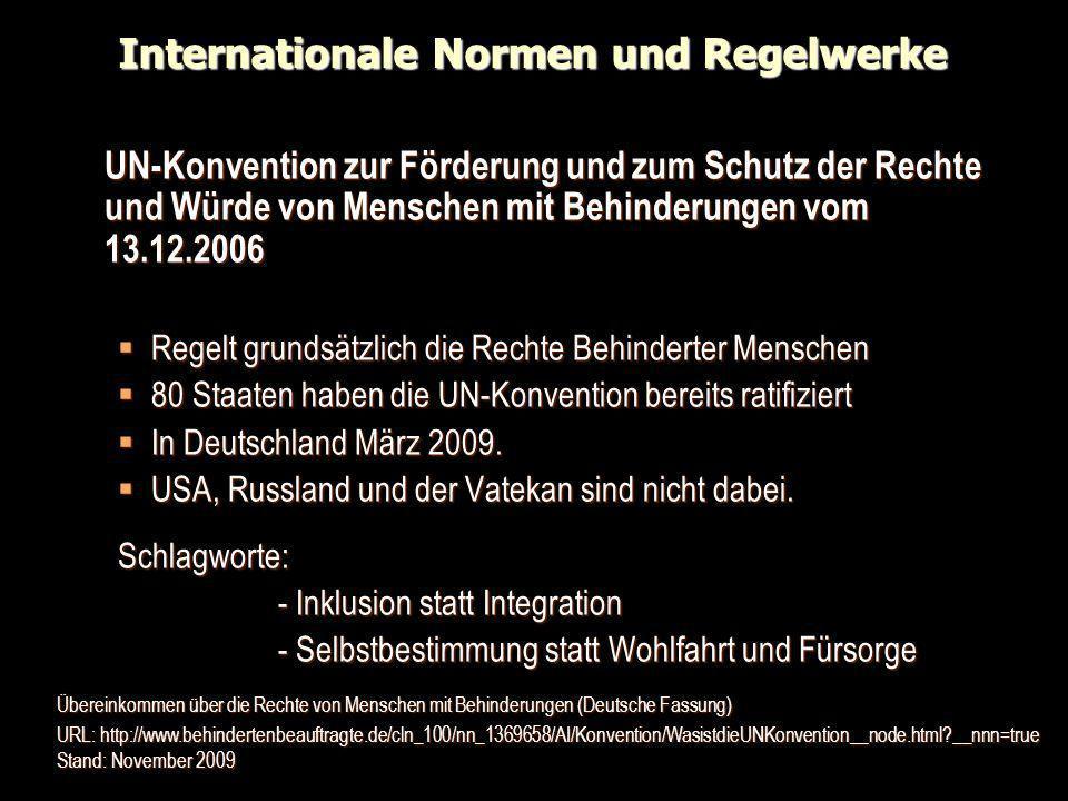 Internationale Normen und Regelwerke