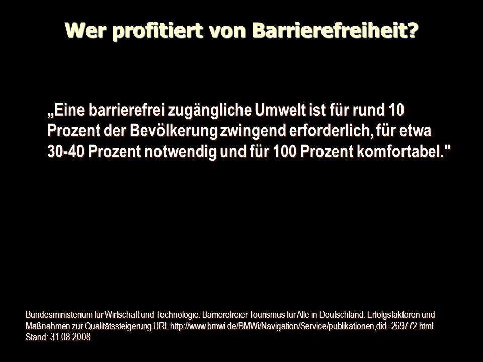 Wer profitiert von Barrierefreiheit