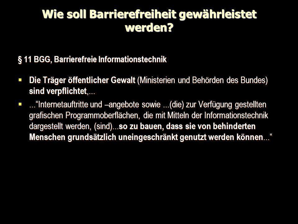 Wie soll Barrierefreiheit gewährleistet werden