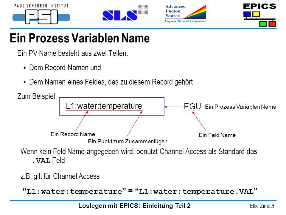 Ein Prozess Variablen Name