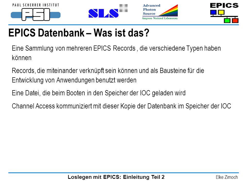EPICS Datenbank – Was ist das