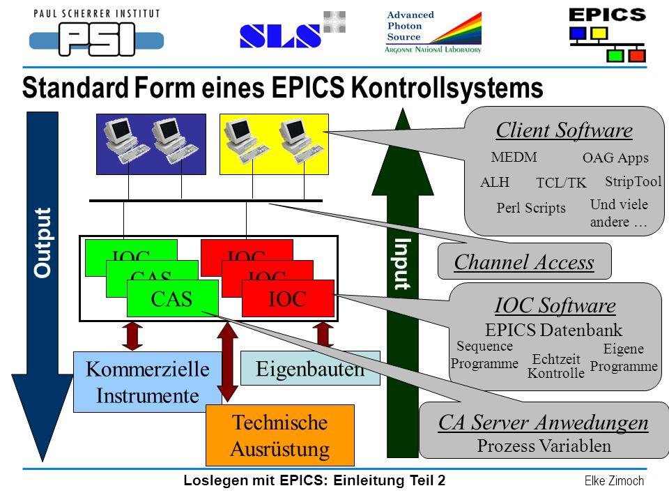 Standard Form eines EPICS Kontrollsystems