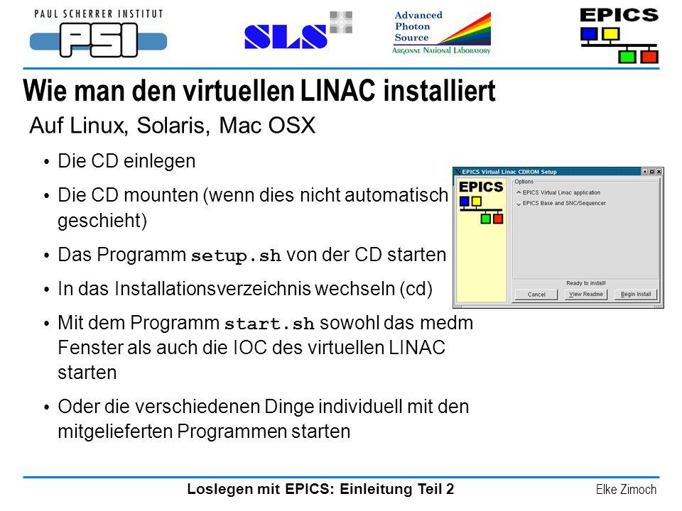 Wie man den virtuellen LINAC installiert