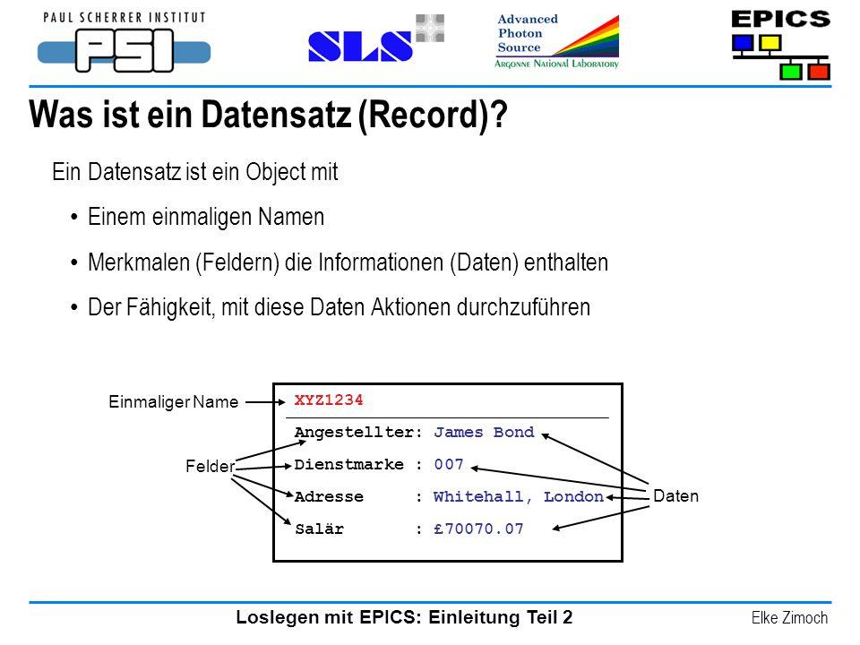 Was ist ein Datensatz (Record)