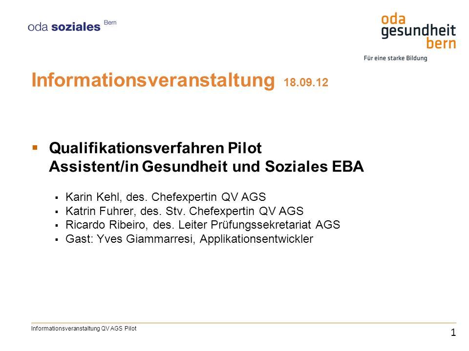 Informationsveranstaltung 18.09.12