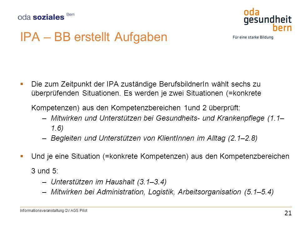 IPA – BB erstellt Aufgaben