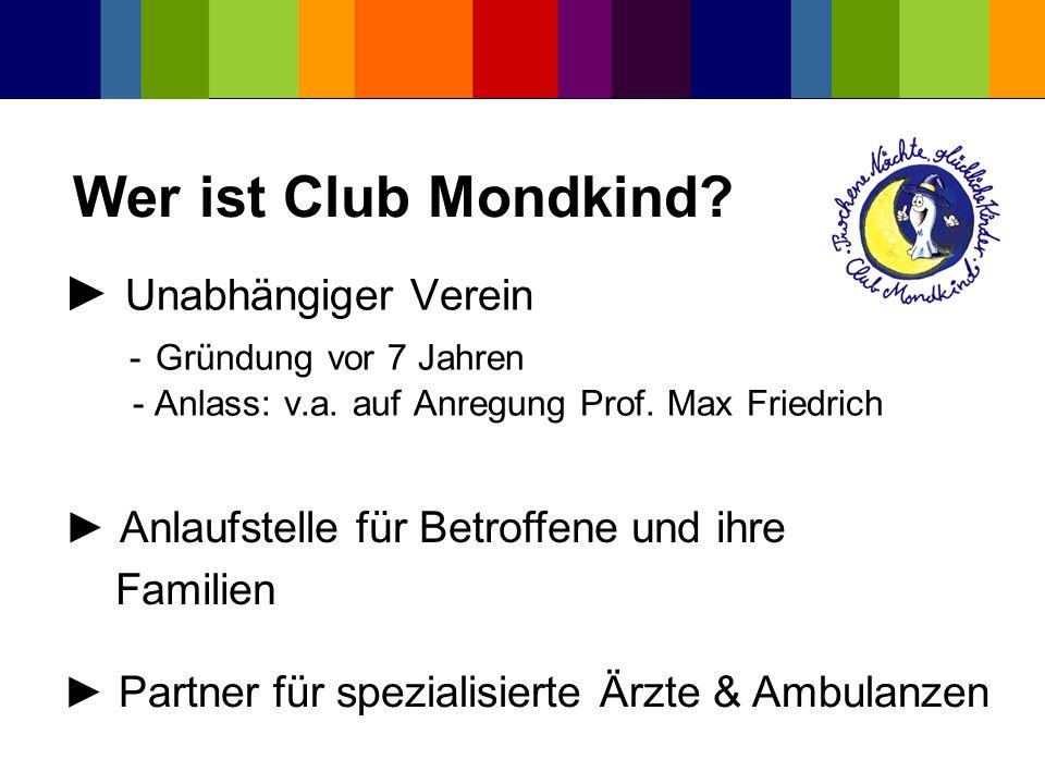 Wer ist Club Mondkind ► Unabhängiger Verein - Gründung vor 7 Jahren
