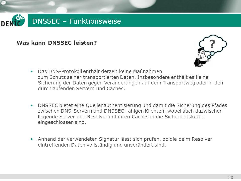 Was kann DNSSEC leisten