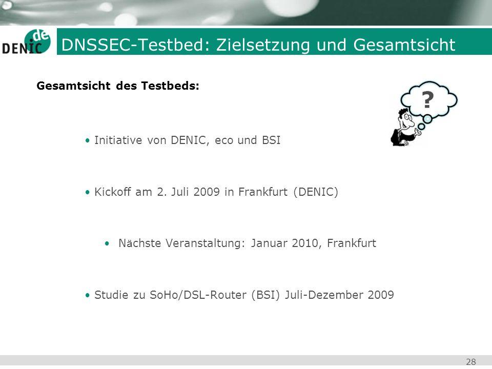 DNSSEC-Testbed: Zielsetzung und Gesamtsicht