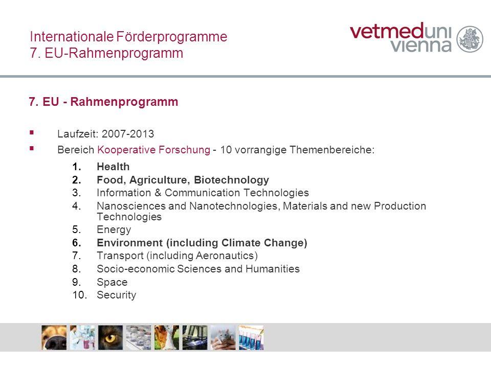 Internationale Förderprogramme 7. EU-Rahmenprogramm
