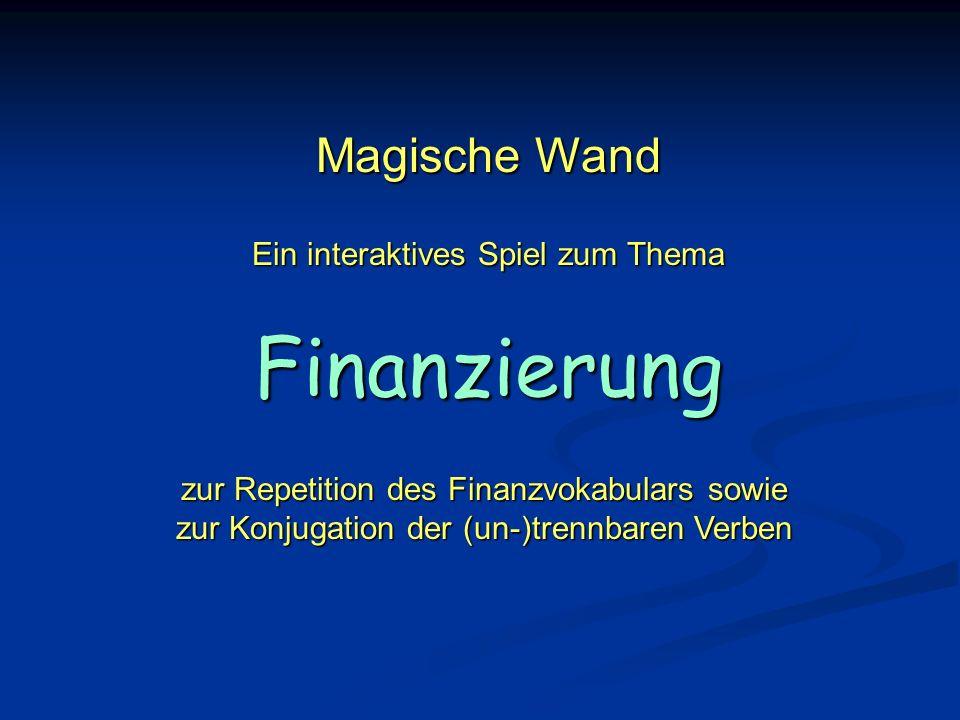 Magische Wand Ein interaktives Spiel zum Thema