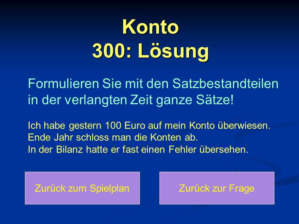 Konto 300: Lösung